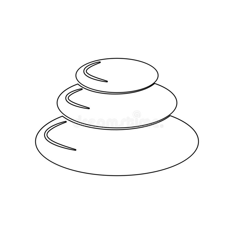 Spa stones icon. Element of Spa for mobile concept and web apps icon. Outline, thin line icon for website design and development, royalty free illustration