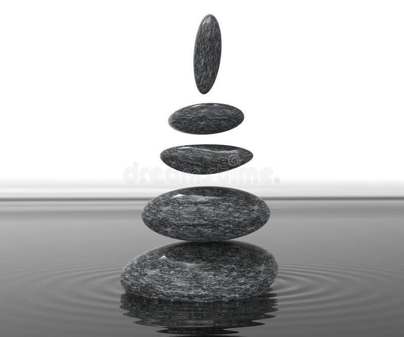 Spa Stones Means Serenity Wellness And Spirituality stock illustration
