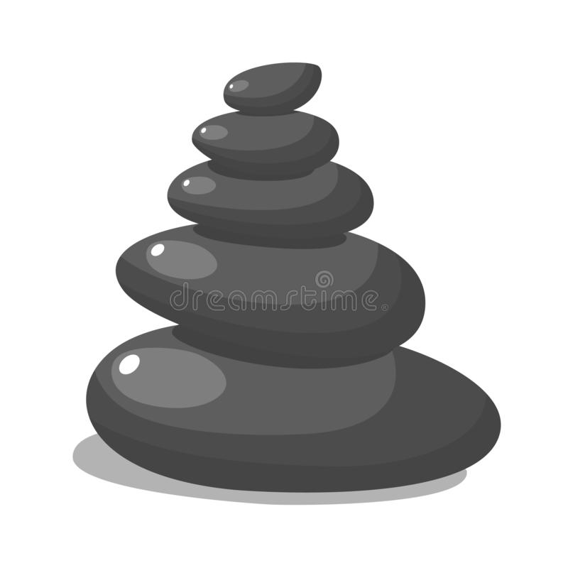 Spa stones for medical therapy, stock illustration