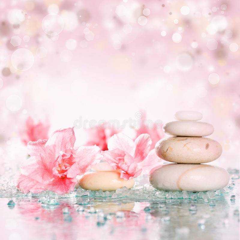 Free Spa Stones On Colorful Background Stock Images - 36699754