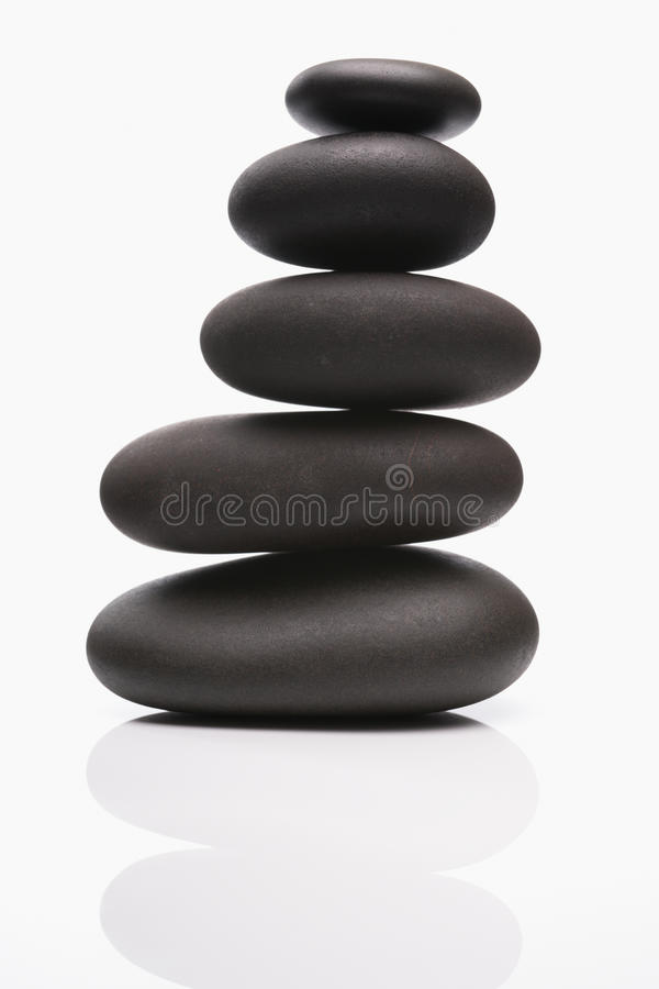 Spa stones in perfect balence stock photography