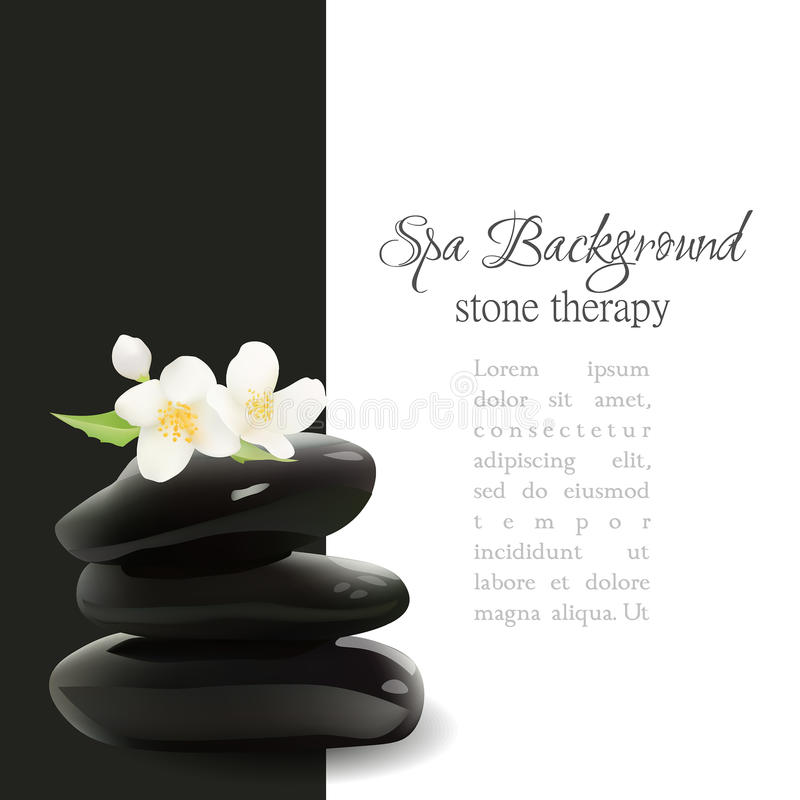 Spa Stones Realistic Vector Background. Isolated Vector Illustration. Template for Cosmetic Shop, Spa Salon, Beauty Products Pack. Eps 10 royalty free illustration