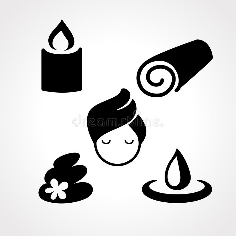 Spa symbol stock illustrationer
