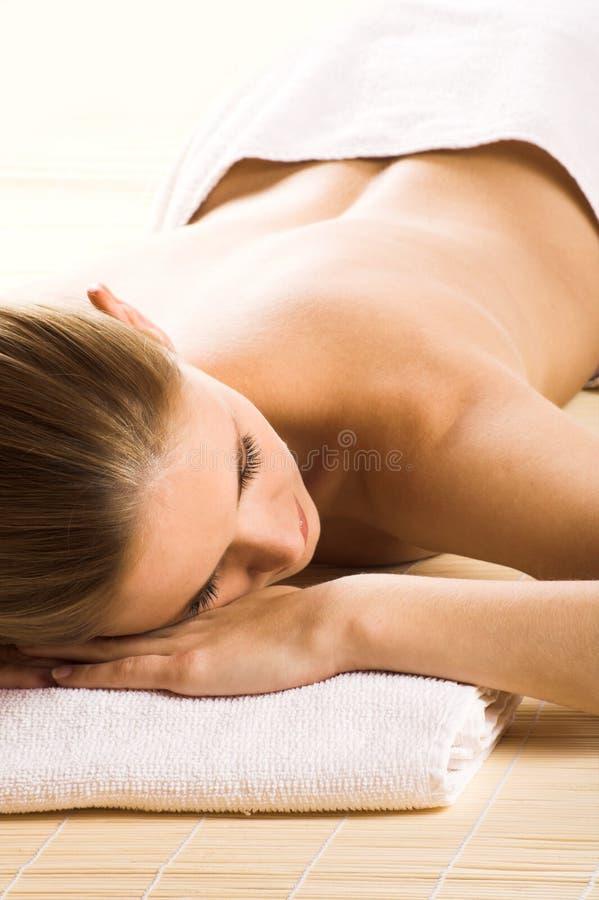 spa szczęśliwa kobieta zdjęcie royalty free