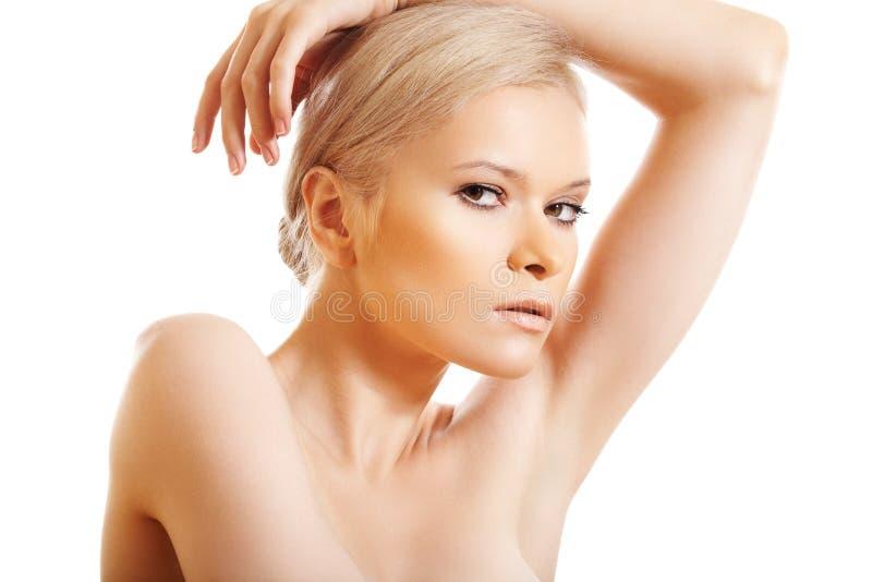 Spa theme, wellness and skin care. Beautiful model