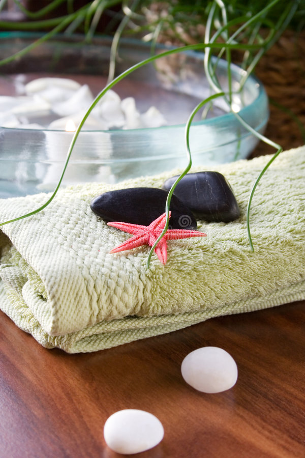 Download Spa treatment stock image. Image of green, candle, starfish - 1699167