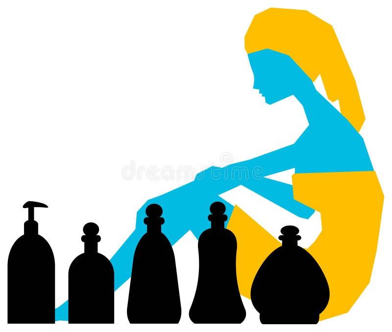 Spa Treatment Logo Royalty Free Stock Photo