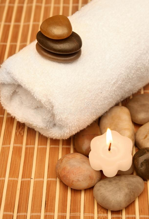 Spa treatment products royalty free stock images