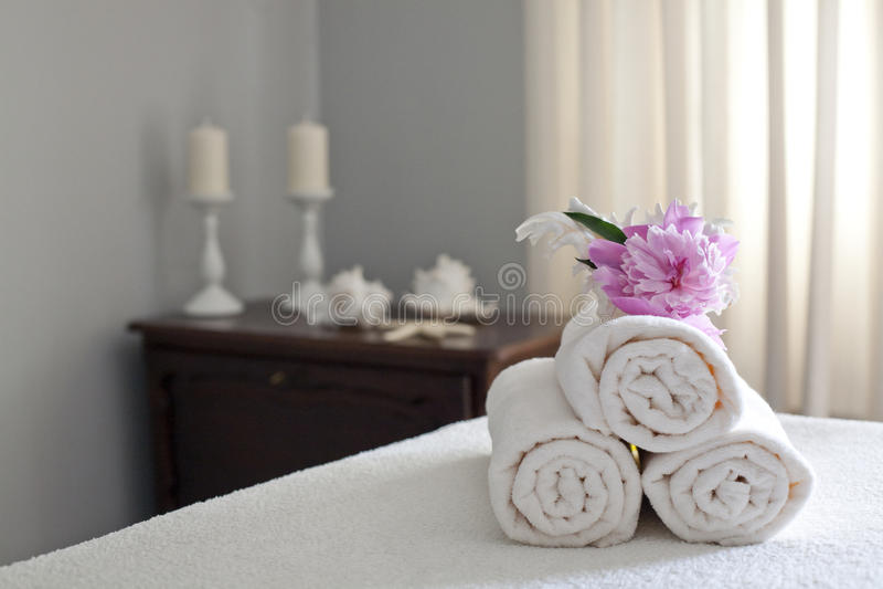 Spa and wellnes interior stock image