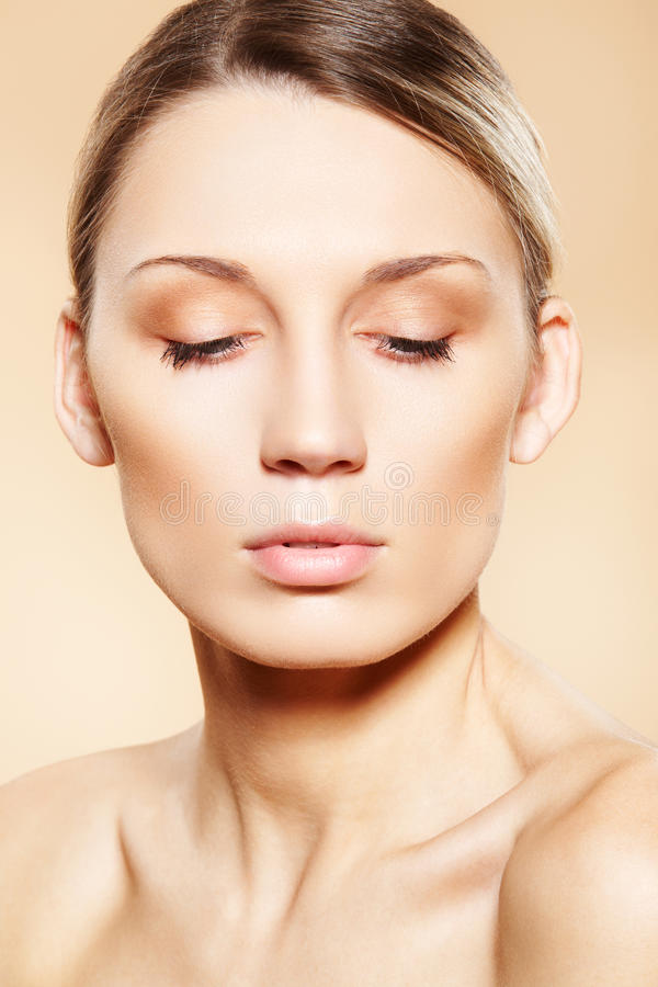 Spa, wellness, beauty and skin care. Clean face stock image