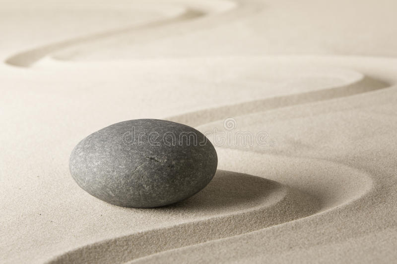 Spa wellness relaxation background with sand and stones royalty free stock photography