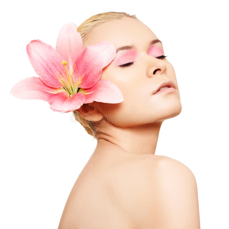 Free Spa, Wellness, Skin Care. Beauty With Pink Make-up Stock Photos - 17878643