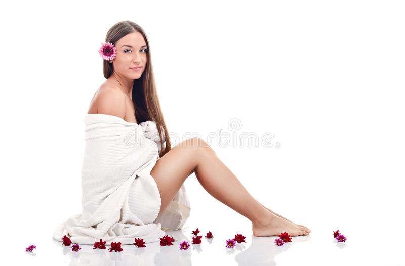 Download Spa woman stock image. Image of lady, flower, dayspa - 27527549