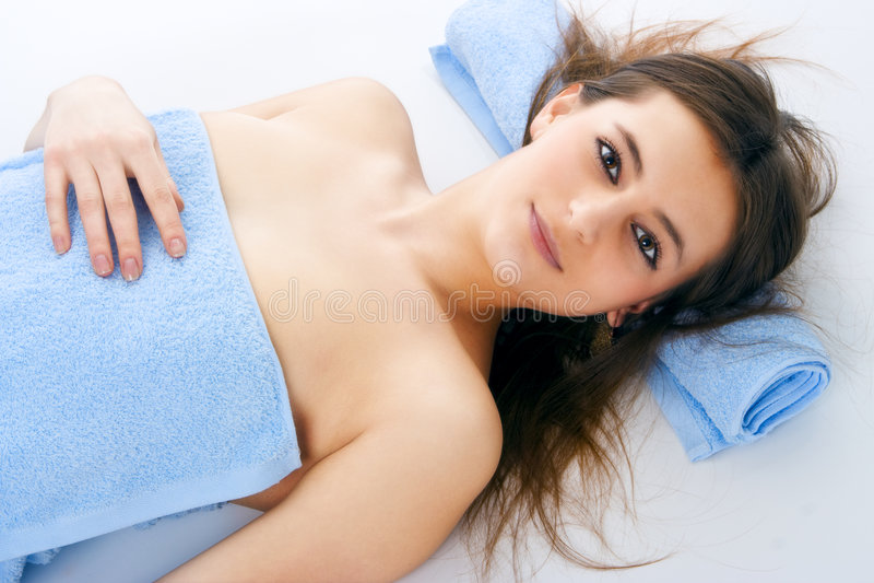 Spa woman stock image