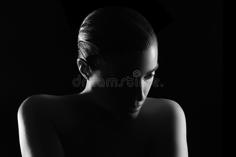 Spa Woman. Low Key royalty free stock photography