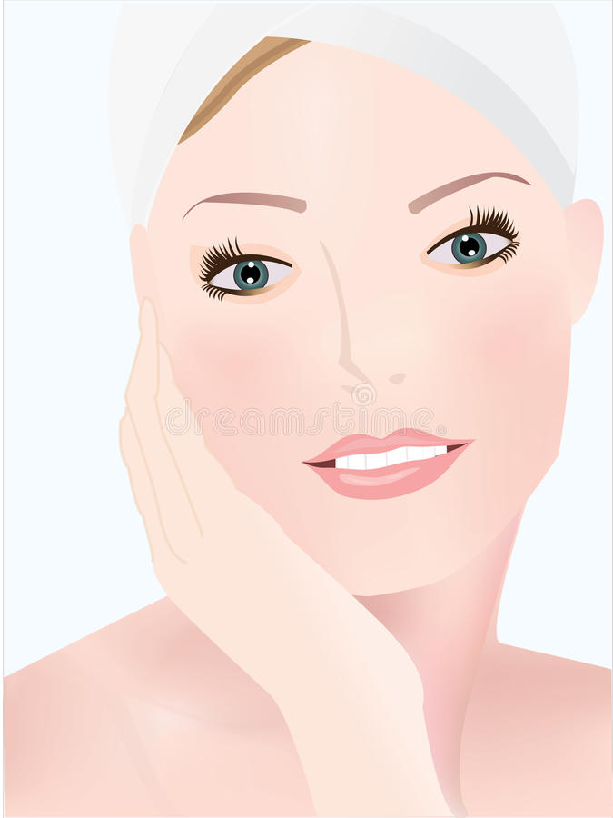 Download SPA WOMEN stock vector. Image of female, people, parlour - 32157304
