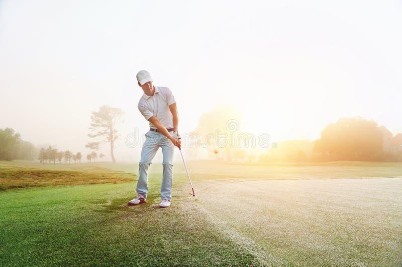 Spaander geschoten golf royalty-vrije stock afbeeldingen