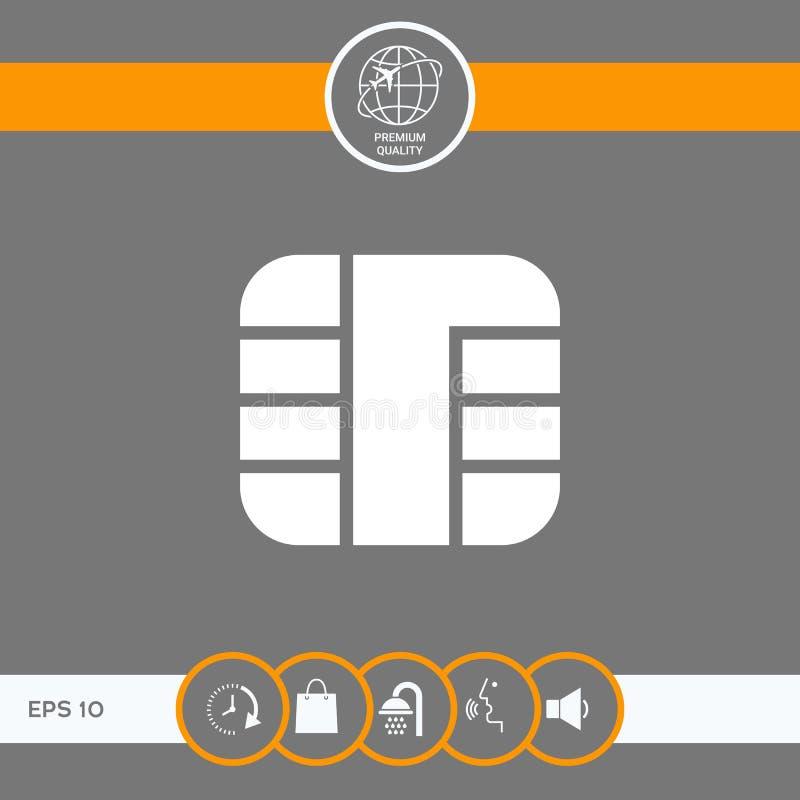 Spaander van creditcardpictogram stock illustratie