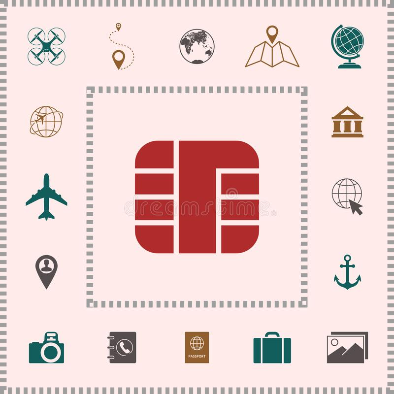 Spaander van creditcardpictogram royalty-vrije illustratie