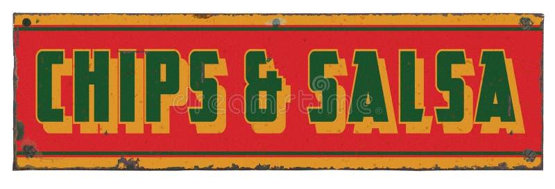 Spaanders en het Uitstekende Teken van Salsa stock foto