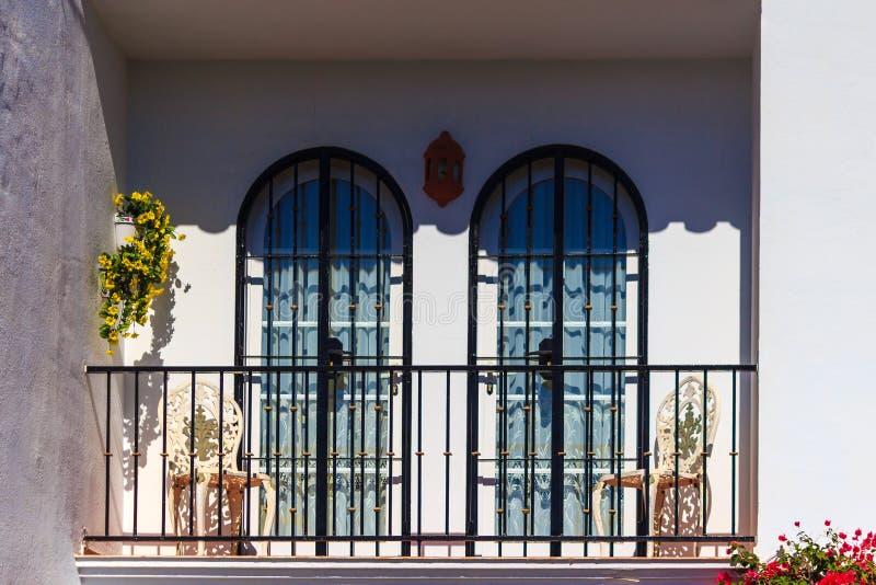 Spaans balkon stock foto's