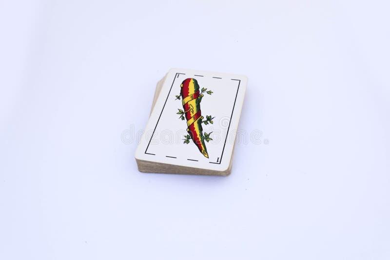 Spaans dek van kaarten stock illustratie