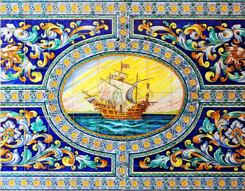 Spaans galjoen, huis van Sevilla, Spanje stock fotografie