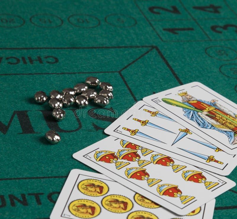 Spaans kaartspel stock fotografie