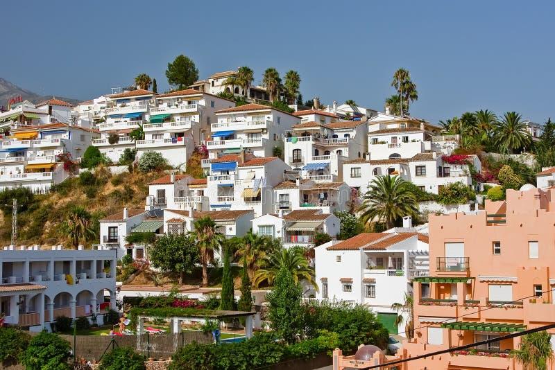 Spaans landschap, Nerja, Costa del Sol royalty-vrije stock fotografie