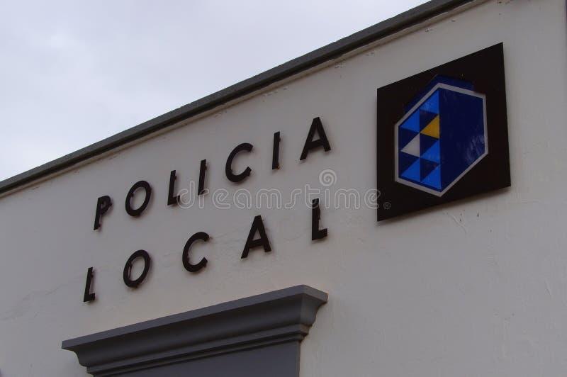 Spaans lokaal politieembleem royalty-vrije stock afbeelding