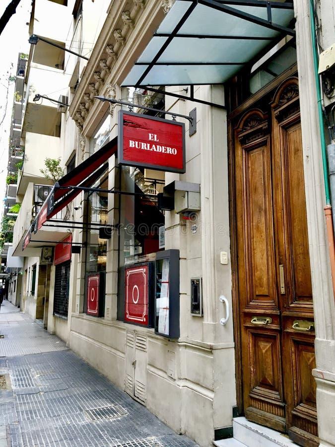 Spaans Restaurant, Buenos aires royalty-vrije stock fotografie