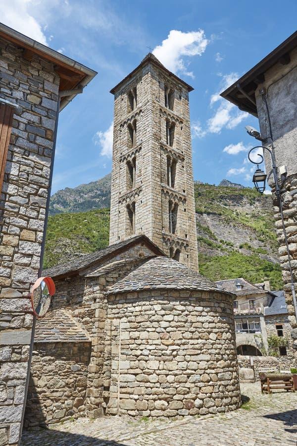 Spaans romanesque art. De kerk van Santa Eulalia DE Erill-la-vall B royalty-vrije stock fotografie