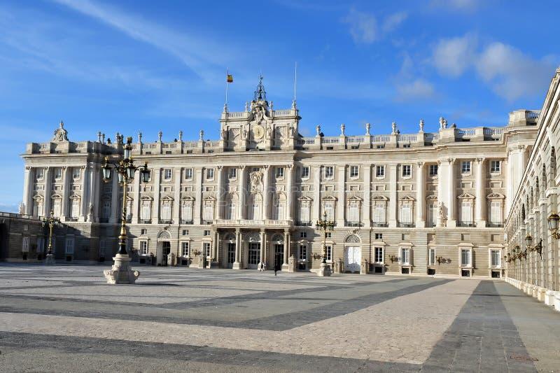 Spaans Royal Palace, Madrid Spanje royalty-vrije stock foto's