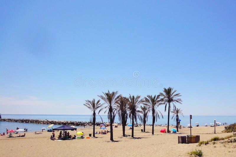 Spaans strand royalty-vrije stock foto's