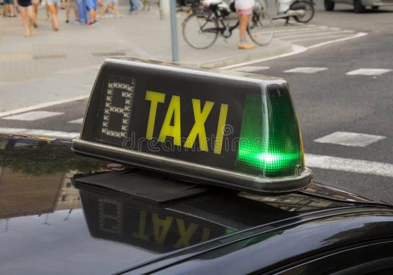 Spaans Taxiteken royalty-vrije stock foto's