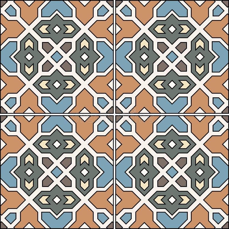 Spaans traditioneel ornament, Mediterraan naadloos patroon, tegelontwerp vector illustratie