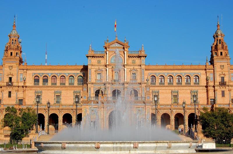 Spaans Vierkant - Sevilla royalty-vrije stock foto's