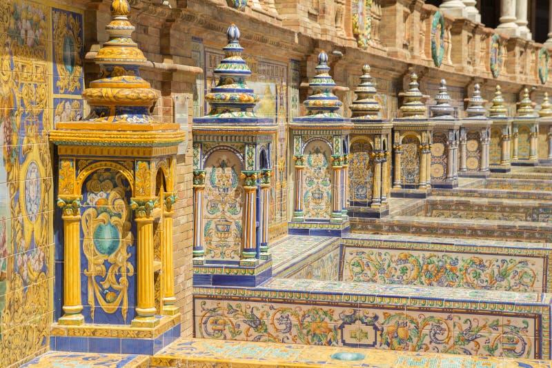 Spaans Vierkant Sevilla royalty-vrije stock afbeeldingen