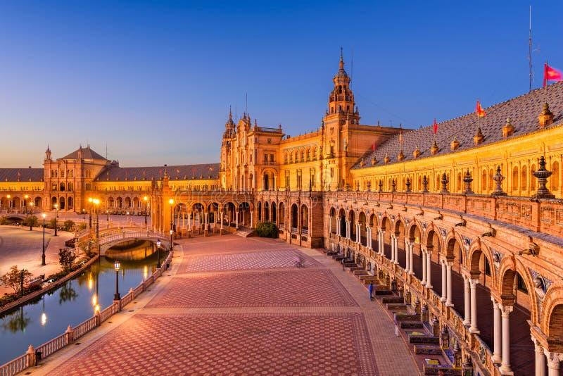 Spaans Vierkant in Sevilla Spanje stock foto