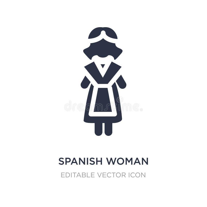 Spaans vrouwenpictogram op witte achtergrond Eenvoudige elementenillustratie van Mensenconcept royalty-vrije illustratie