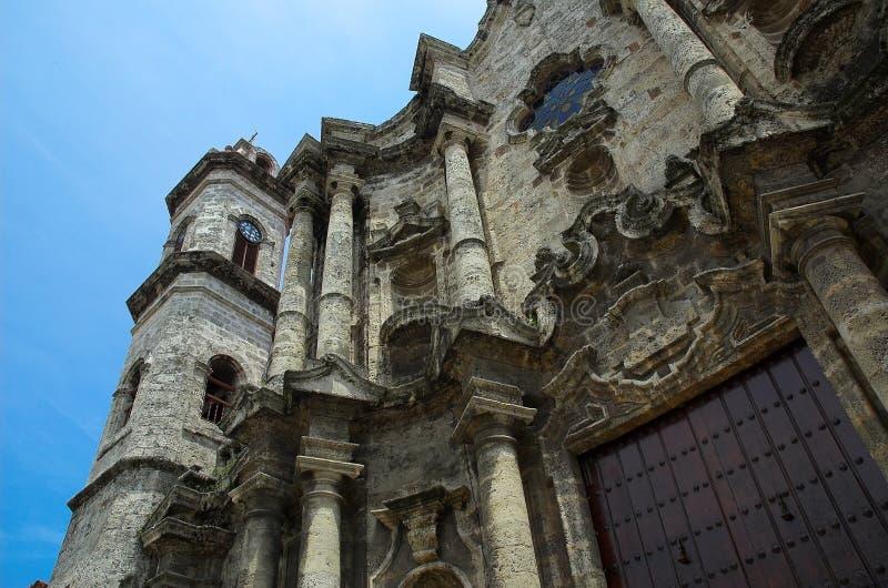 Spaanse Basillica, Havana stock afbeelding