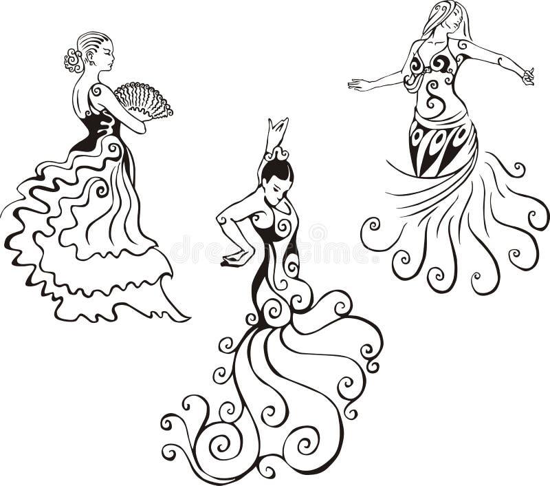 Spaanse dans vector illustratie