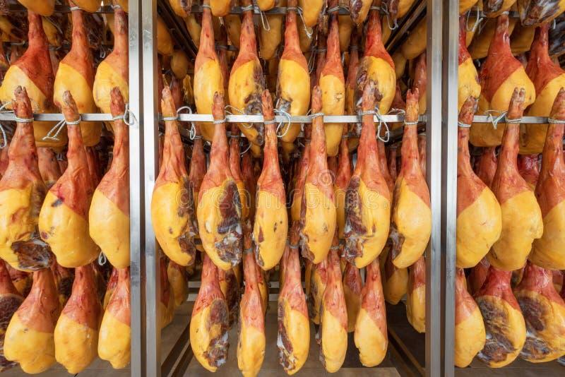 Spaanse hamkelder De voedselindustrie stock foto's