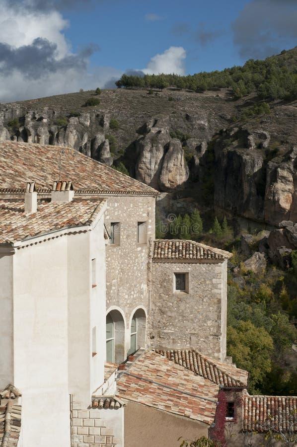 Spaanse huizen royalty-vrije stock foto