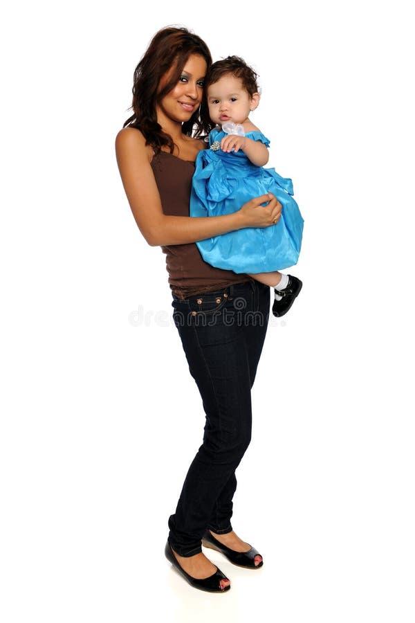 Spaanse Moeder en Dochter stock foto