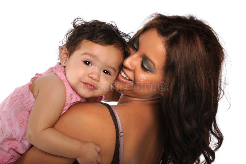 Spaanse Moeder en Dochter stock afbeeldingen