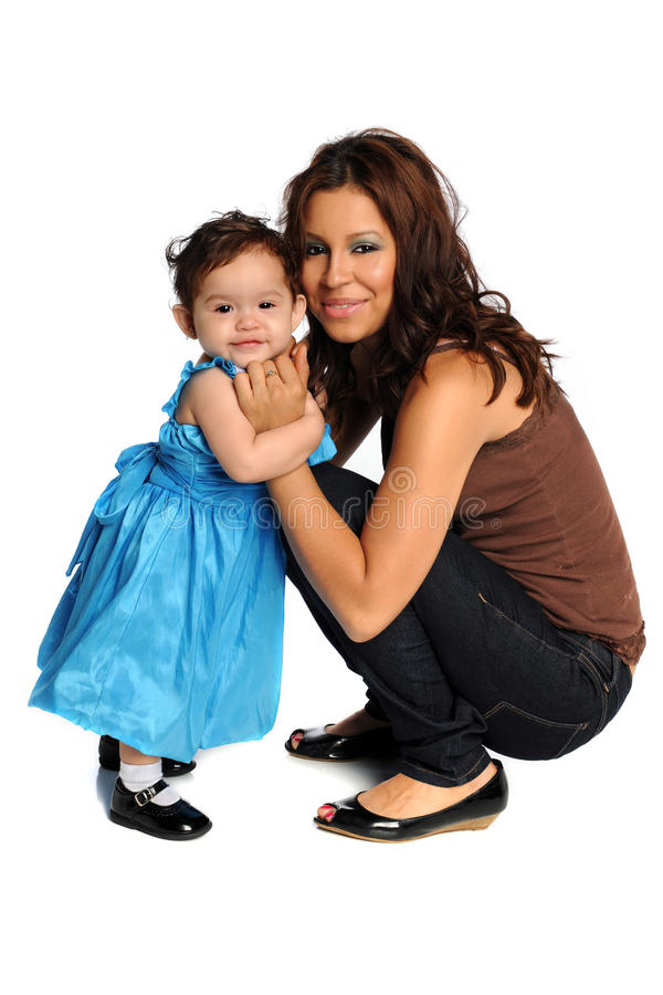 Spaanse Moeder en Dochter royalty-vrije stock foto's