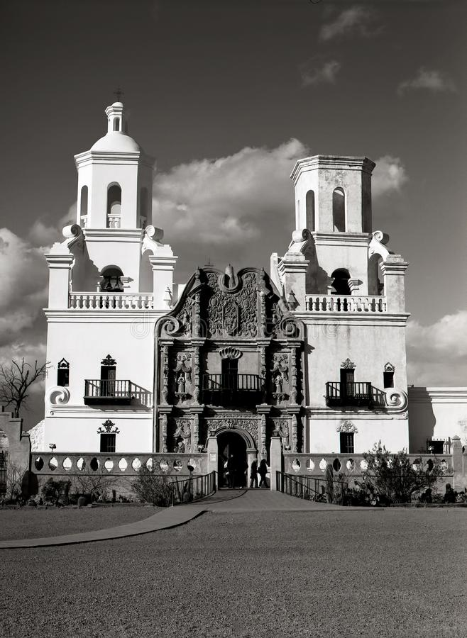 Spaanse opdracht San Xavier del Bac royalty-vrije stock afbeeldingen