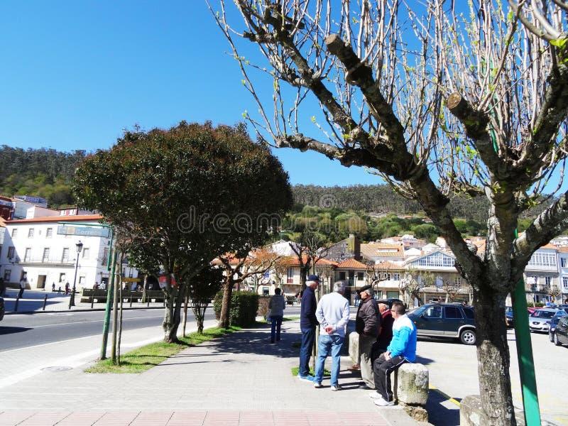 Spaanse oude mensen - Muros - Spanje royalty-vrije stock afbeelding