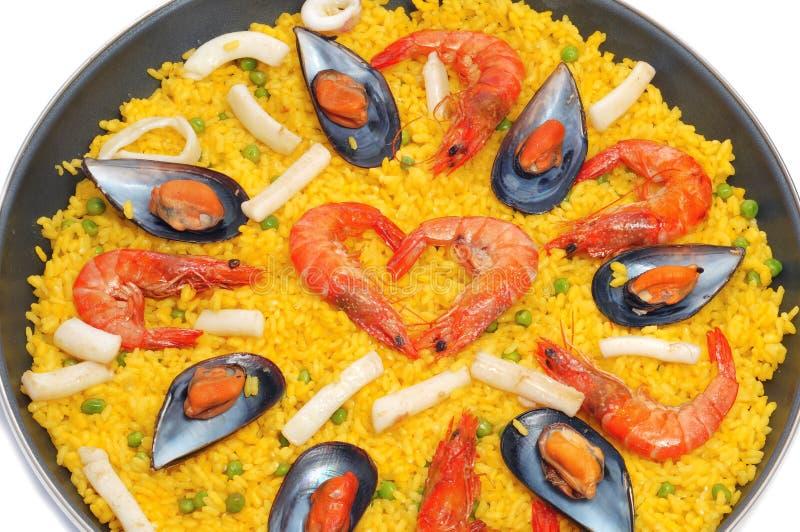 Spaanse paella stock afbeelding